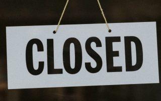 Store closed during coronavirus pandemic